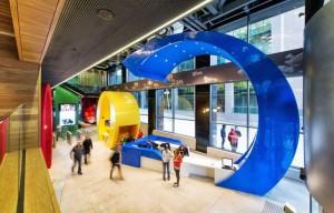 Conheça o escritório da empresa Google na Irlanda.