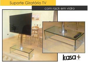 Suporte TV Vidro Kasa 2