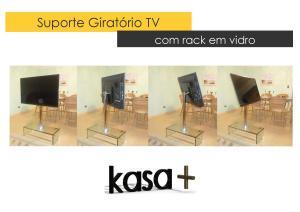 Suporte TV Vidro Kasa