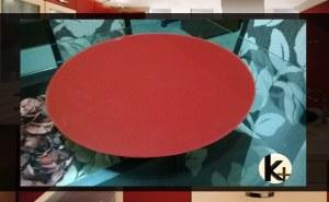 Prato giratório vermelho Kasa